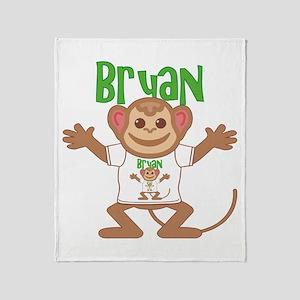 Little Monkey Bryan Throw Blanket