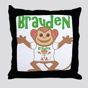 Little Monkey Brayden Throw Pillow