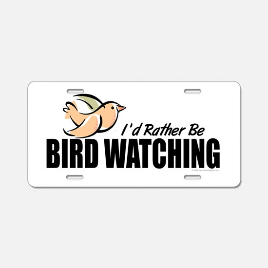 Bird Watching Aluminum License Plate