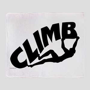 Bouldering Rocks Throw Blanket