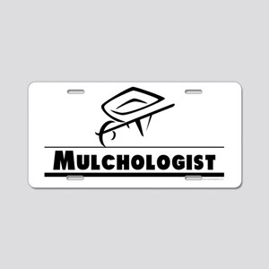 Mulchologist Aluminum License Plate
