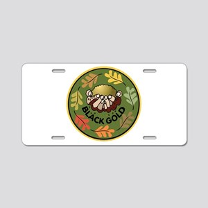 Black Gold Composting Aluminum License Plate