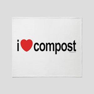 I Love Compost Throw Blanket