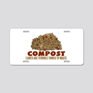 Composting Aluminum License Plate