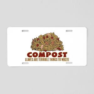 Composting Aluminum License Plate