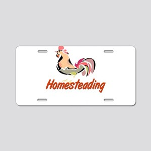 Homestead Rooster Aluminum License Plate