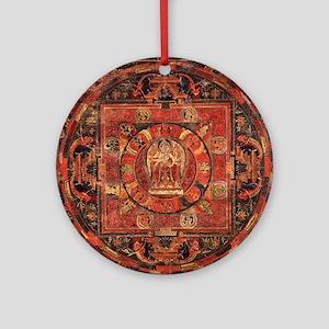 Compassion Mandala of Amoghapasa Round Ornament