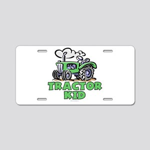 Green Tractor Kid Aluminum License Plate