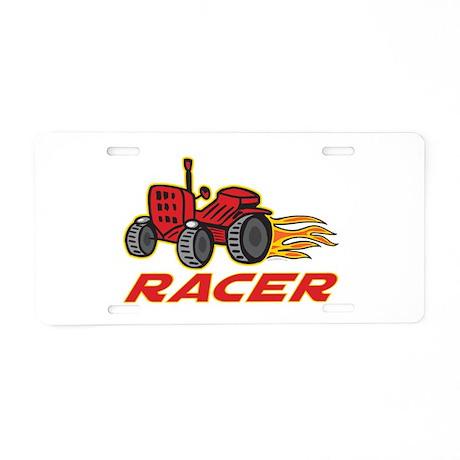 Tractor Racing Aluminum License Plate
