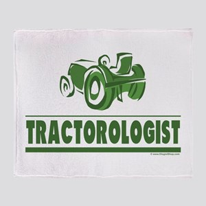 Green Tractor Throw Blanket