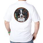 Tam's Tri Golf Shirt, back image