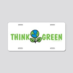 Think Green Aluminum License Plate
