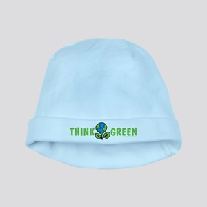 Think Green baby hat