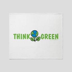 Think Green Throw Blanket