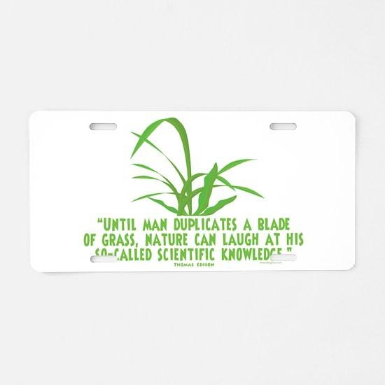 Edison Nature Quote Aluminum License Plate