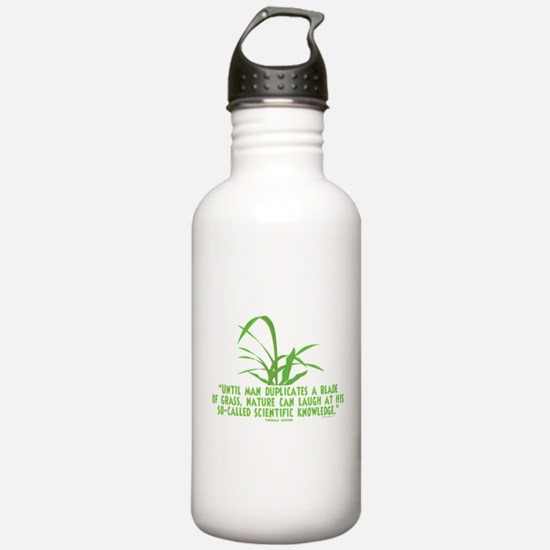 Edison Nature Quote Water Bottle