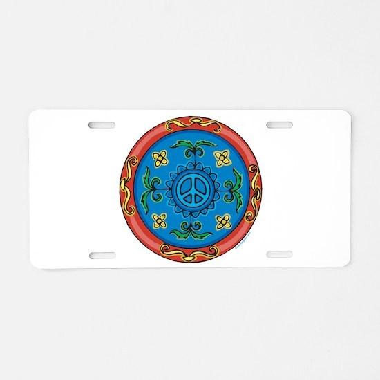 Medallion Peace Sign, Symbol Aluminum License Plat