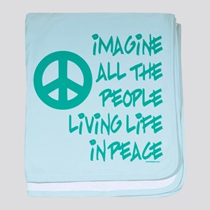 Imagine Peace baby blanket