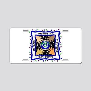 Hands of Peace Aluminum License Plate