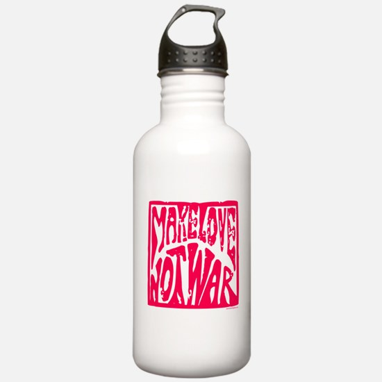 Make LOVE, NOT War Water Bottle