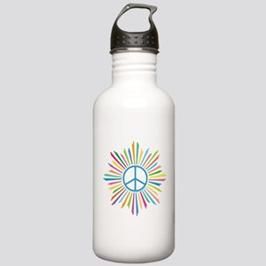 Peace Symbol Star Stainless Water Bottle 1.0L