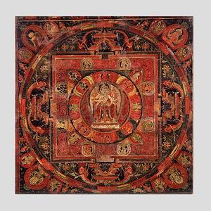 Compassion Mandala of Amoghapasa Tile Coaster