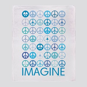 Imagine Peace Signs Throw Blanket