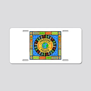 World Peace Aluminum License Plate
