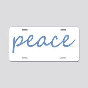 Simple Peace Aluminum License Plate
