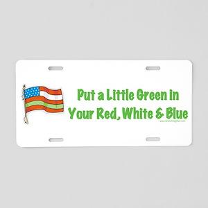 America Green Environment Aluminum License Plate