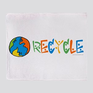 Colorful Recycling Throw Blanket