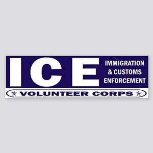 ICE - Immigration & Customs Bumper Sticker