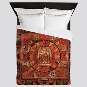 Compassion Mandala of Amoghapasa Queen Duvet