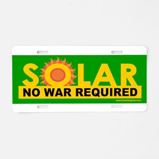 Solar ... Anti-War Aluminum License Plate