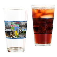 Boston, MA Photo Collage Drinking Glass