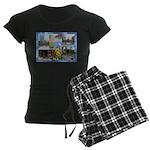 Boston, MA Photo Collage Women's Dark Pajamas