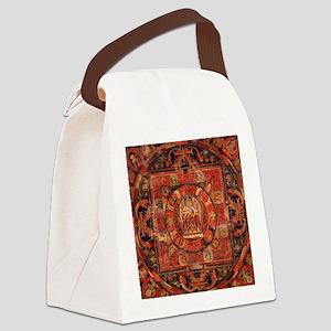 Compassion Mandala of Amoghapasa Canvas Lunch Bag