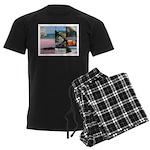 Bermuda Collage by Khoncepts Men's Dark Pajamas