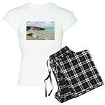 Pink Sandy Beach in Bermuda b Women's Light Pajama