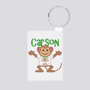 Little Monkey Carson Aluminum Photo Keychain