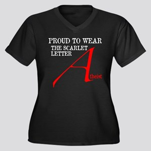 Scarlet Letter Atheist Women's Plus Size V-Neck Da