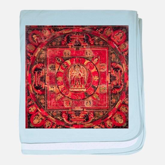 Compassion Mandala of Amoghapasa baby blanket