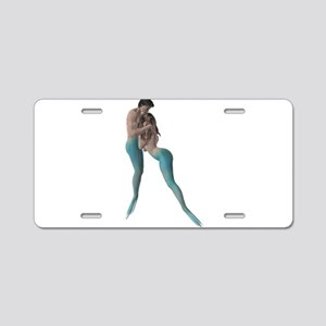 Merman & Mermaid Aluminum License Plate