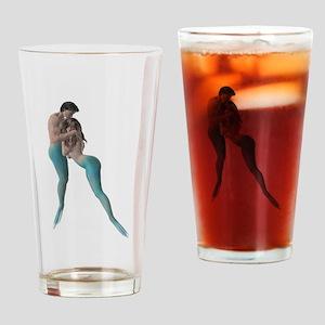 Merman & Mermaid Drinking Glass