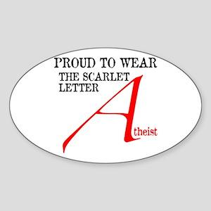 Scarlet Letter Atheist Sticker (Oval)