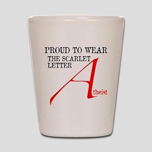 Scarlet Letter Atheist Shot Glass