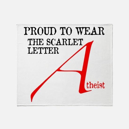 Scarlet Letter Atheist Throw Blanket