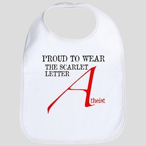 Scarlet Letter Atheist Bib