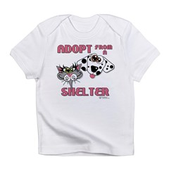 Adopt from a Shelter Infant T-Shirt