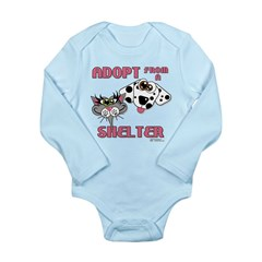 Adopt from a Shelter Long Sleeve Infant Bodysuit